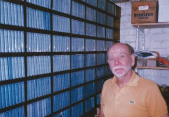 Roy Fowler with the blue cassettes