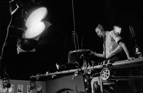 Bill on the Sound Boom at Teddington Studios