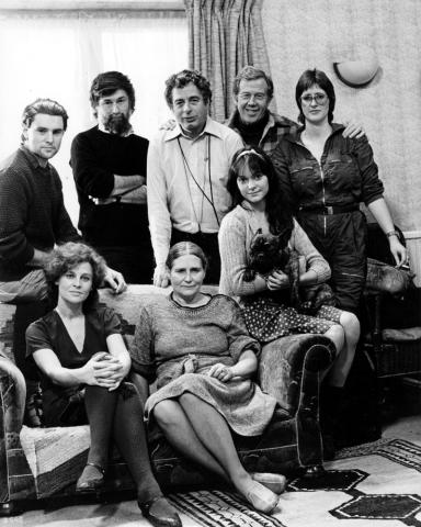 Walter Lassally Photo (back row, centre) [Source, Cinema Museum]