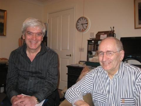 Bernie Andrews with interviewer Mike Dick