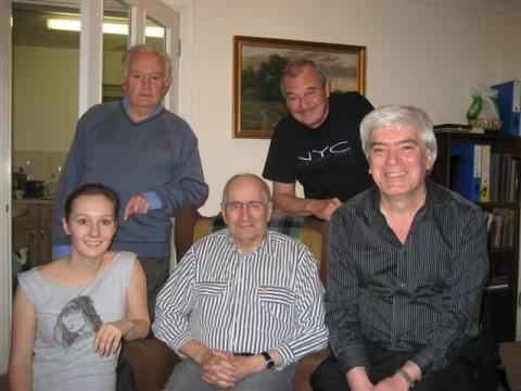 Jimmy Grant, Bill Bebb, Jackie Wilson, Bernie Andrews and Mike Dick 1st February 2007