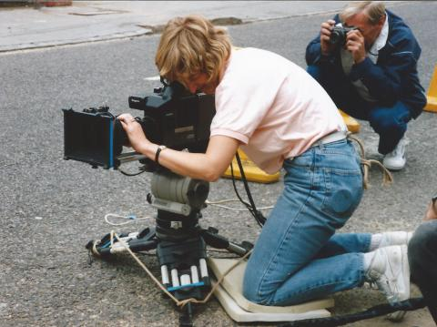 Alison filming 'The Bill' for Thames TV